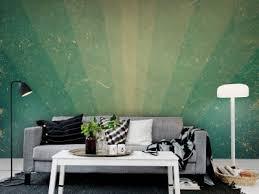 green wallpaper room green wall murals rebel walls
