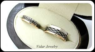 his and wedding bands his and unique three tone matching wedding bands vidar