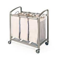 Baby Laundry Hamper by Deluxe Mobile 3 Bag Heavy Duty Laundry Hamper Sorter Cart