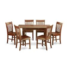 Nook Dining Set by Nofk7 Mah C 7 Piece Kitchen Nook Dining Set Table With Leaf And 6