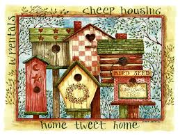 birdhouses tag wallpapers back porch welcome garden art painting