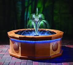 water fountain with lights fire pit doubles as musical water fountain garden center tv
