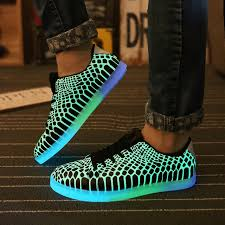 sneakers that light up on the bottom 2017 casual luminous shoes for men leather glowing light up shoes