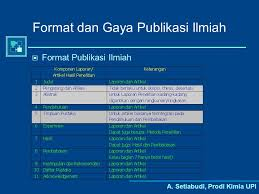 artikel format paper ilmiah penulisan karya ilmiah kimia dan pendidikan kimia ppt download