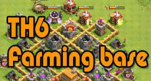coc map layout th6 th6 farm design clash of clans wiki