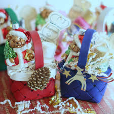 christmas crafts homemade mini gift basket ornaments diy