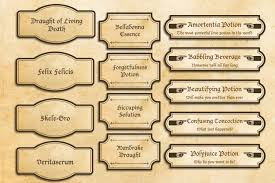 Harry Potter Bathroom Accessories Harry Potter Labels Party Printables Harry Potter Party