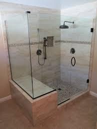 Manhattan Shower Doors by Bathroom Dark Rainfall Shower Head With Merola Tile Wall And