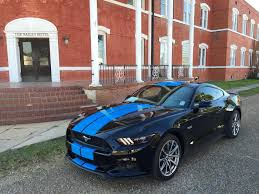 Black Mustang With Green Stripes Grabber Blue Stripes On 2015 Ford Mustang Gt Fastback Are A Must