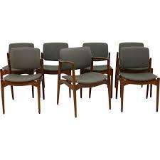 siege repas ensemble de 7 chaises à repas et un fauteuil avec siège gris de
