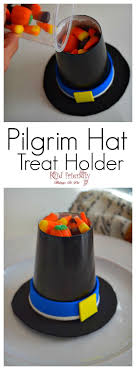 hat cup treat holder craft for a kid friendly thanksgiving