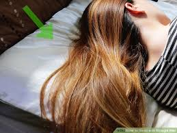 hairstyles for bed wiki how how to sleep with straight hair 8 steps with pictures wikihow