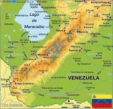Venezuela Map Map Of Venezuela Region Merida Andes Venezuela Map In The