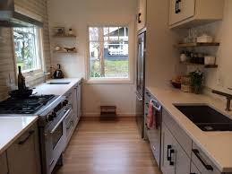 the best appealing narrow galley kitchen designs with additional