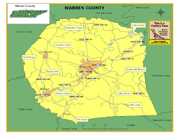 State Of Tennessee Map by Warren County Tennessee Century Farms
