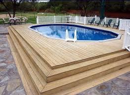 above ground pool deck ideas wood pool design ideas