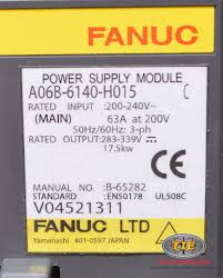 fanuc a06b 6140 h015 or a06b6140h015 power supply fanucworld