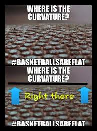 Earth Meme - this ridiculous basketball meme is all flat earth science and