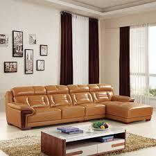 canapé d angle en cuir marron canapé d angle en cuir marron pu salon meubles maison le meilleur