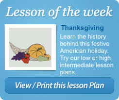 esl lesson plans on thanksgiving esl library