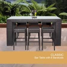 Bar Height Patio Furniture by 7 Piece Aluminum Bar Height Patio Set