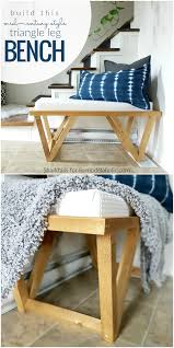 remodelaholic build this mid century inspired triangle leg bench
