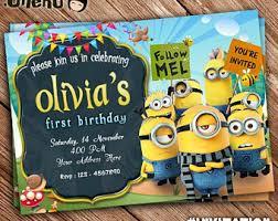 minion birthday card etsy