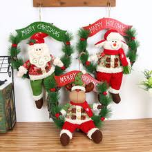 Christmas Decoration For Entrance by Popular Christmas Door Ornaments Buy Cheap Christmas Door
