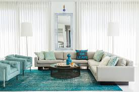 gorgeous turquoise area rug contemporary family room