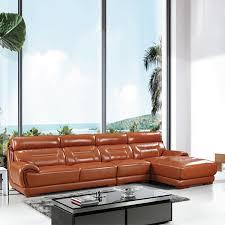 canapé d angle en cuir marron canapé d angle en cuir marron clair pu salon meubles maison le