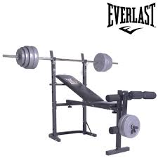Weight Set With Bench For Sale Low Price Everlast Foldable Weight Bench U0026 40kg Barbell Weight Set