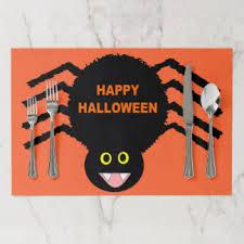 halloween placemats zazzle