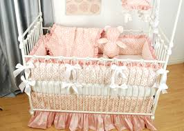 cot crib princess white pink bed canopy crown crian a beauteous pink floral and silk crib ding with white bows on a bratt unusual canopies baby