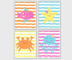 sea animals name blocks inspired by under the sea bedding by