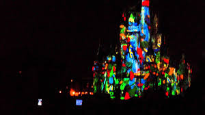disney magic kingdom new lights castle show 2016 cindirella