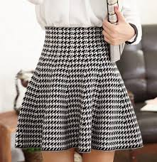 high waisted skirt black white houndstooth ruffle high waisted skirt skirts bottoms