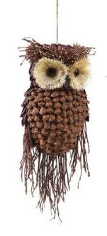 13 modern lodge pine cone and twig owl