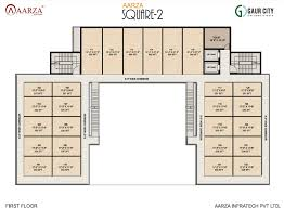 floor plan of a shopping mall aarza square shopping complex floor plan aarza square noida