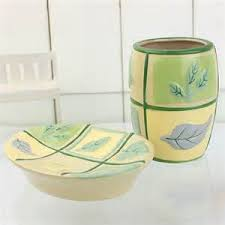 Yellow Bathroom Accessories by Leaves Bathroom Accessories Sets Tsc