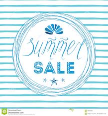 summer sales template hand drawn letterig element seashell sea