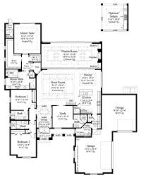 Scaled Floor Plan Mediterranean Style House Plan 3 Beds 4 5 Baths 3371 Sq Ft Plan