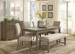 rustic casual rectangular leg table with concrete insert by