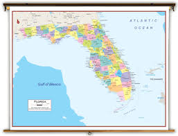 Florida Alabama Map by Florida State Political Classroom Map From Academia Maps