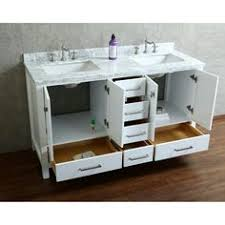 Abbey 60 Inch Vanity Abbey 60 Inch Single Bathroom Vanity Carrara White Includes