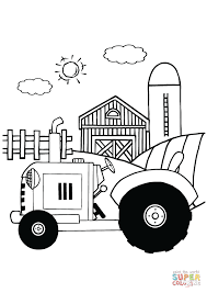 tractor farm coloring free printable coloring pages
