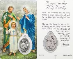 prayer card holy family prayer card