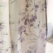 Oriental Shower Curtains Oriental Flower Thistle Fabric Designers Guild