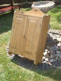 antique victorian pine kitchen bathroom cabinet cupboard 291857