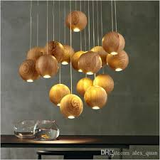 Wooden Chandelier Modern Modern Led Wood Chandelier Creative Wooden Small Pendant