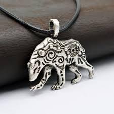 animal jewelry necklace images 1pcs viking bear pendant necklace ursa bear necklace talisman jpg